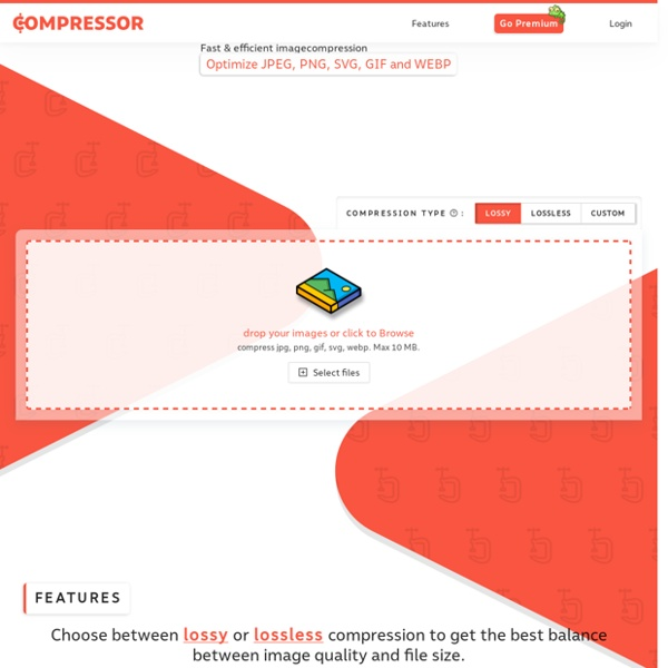 Compressor.io - optimize and compress your images and photos