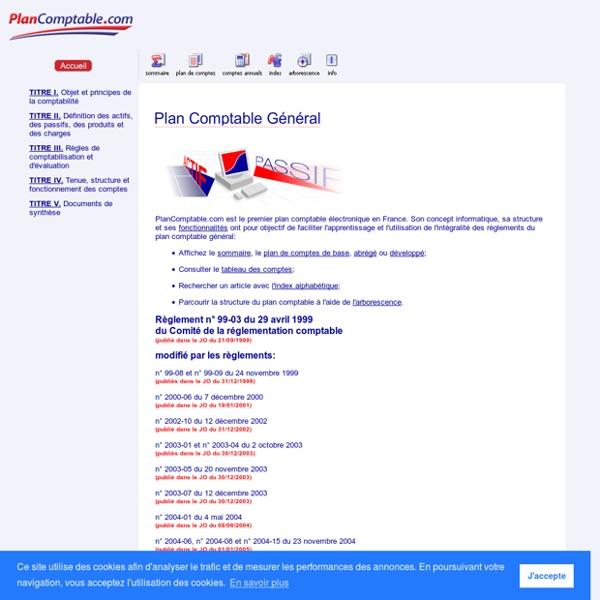 Plan Comptable Général - www.plancomptable.com