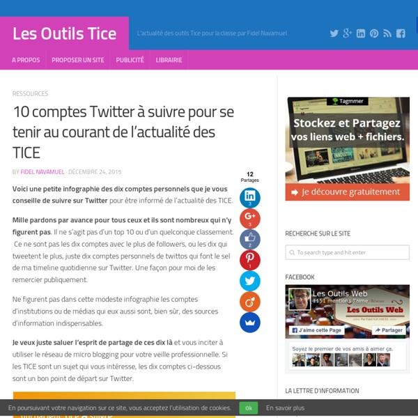 10 comptes Twitter à suivre pour se tenir au courant de l'actualité des TICE