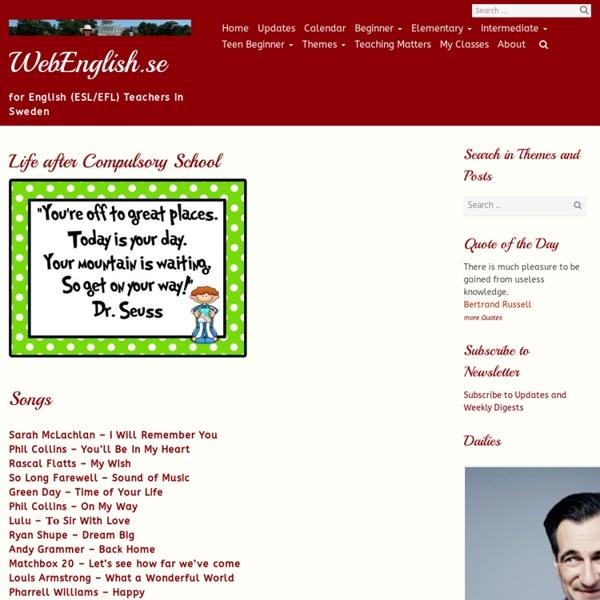 Life after Compulsory School ⋆ Intermediate, Themes