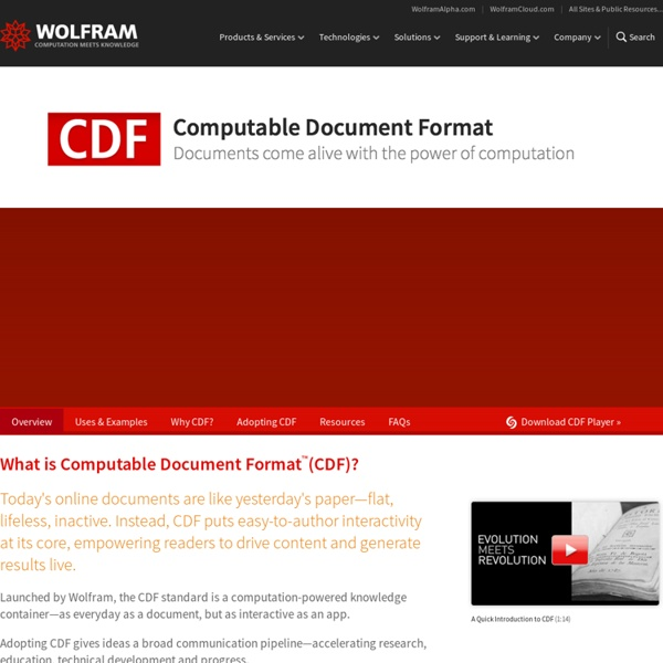 Formato de Documento Computável (CDF) para Conteúdo Interativo