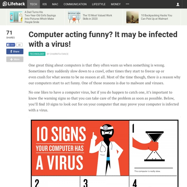 Computer acting funny? It may be infected with a virus!