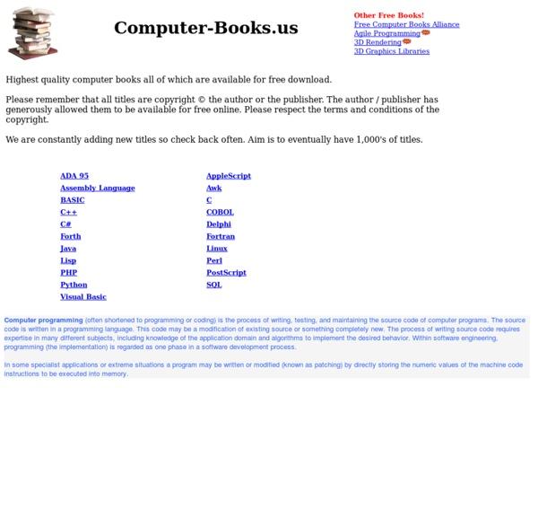 Computer-Books.us - Free computer books