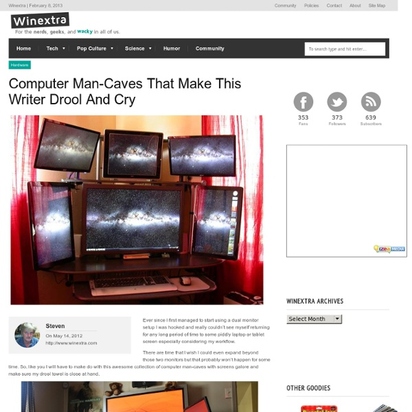 Computer Man-Caves That Make This Writer Drool And Cry