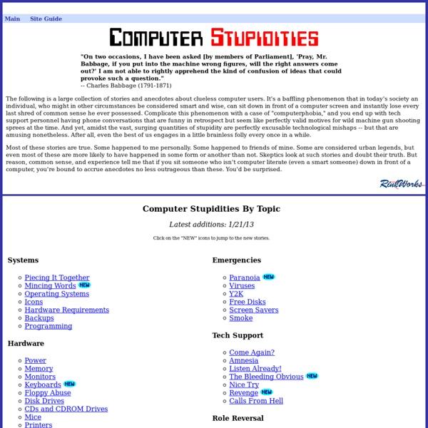 Computer Stupidities
