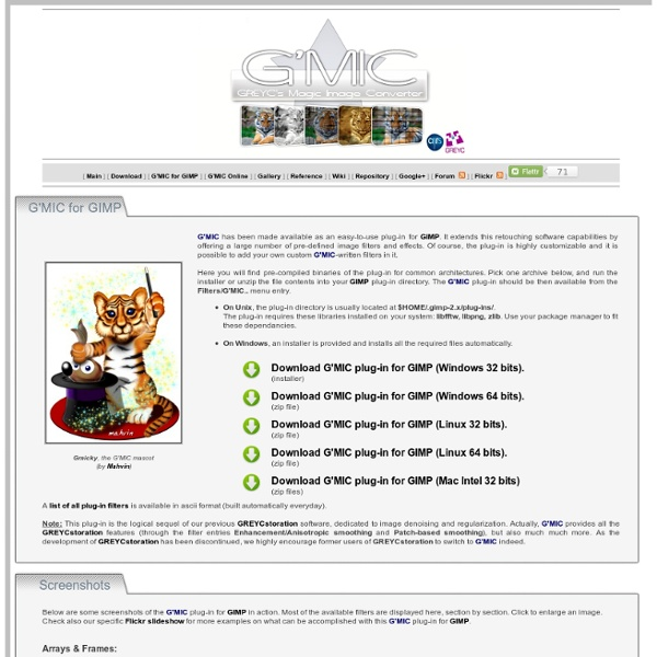 G'MIC - GREYC's Magic Image Converter
