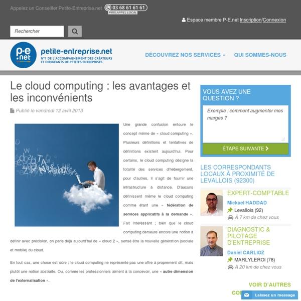 Le cloud computing : les avantages et les inconvénients