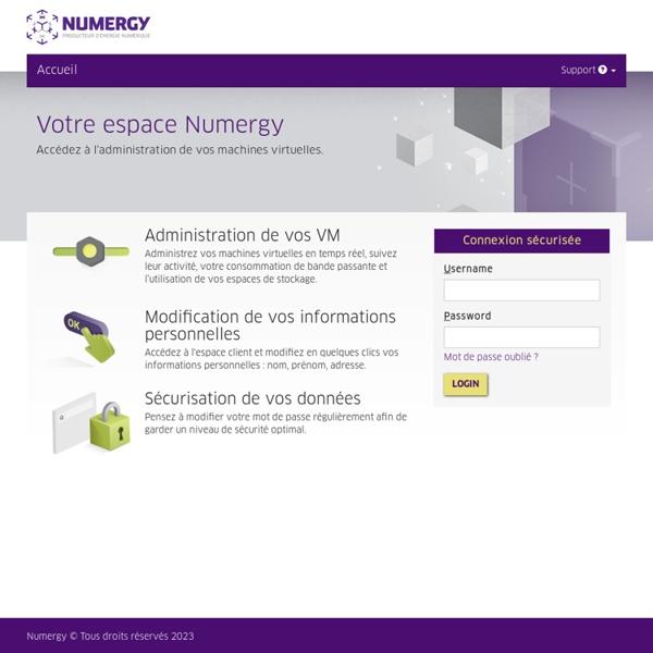 Cloud computing (Iaas) Numergy, solutions de Cloud en France