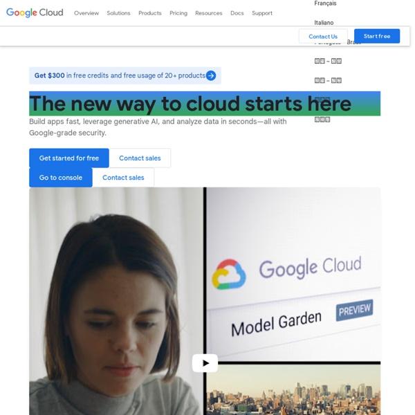 Google Cloud Computing, Hosting Services & APIs