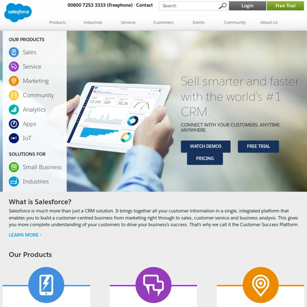 CRM - The Enterprise Cloud Computing Company - Salesforce.com Europe