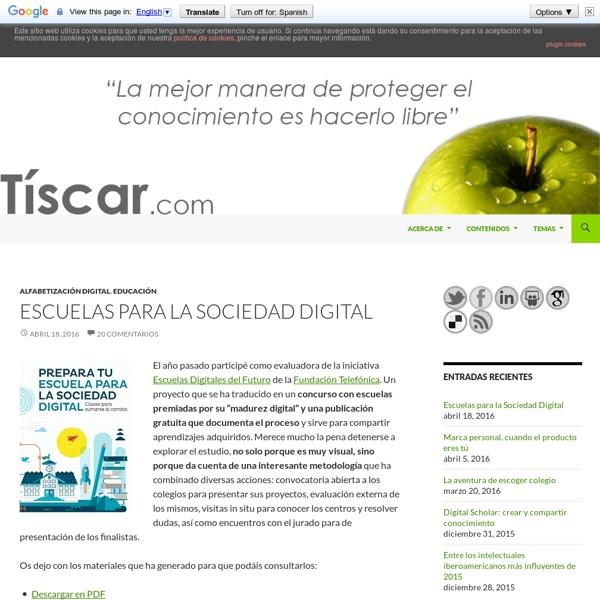 TISCAR - Comunicación y Educación Digital - Página personal de Tíscar Lara