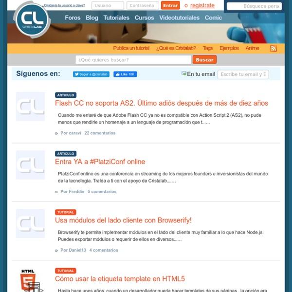 Comunidad de diseño web y desarrollo en internet, Cristalab v4