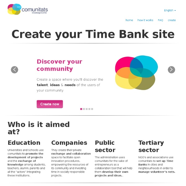 Create your Time Bank site