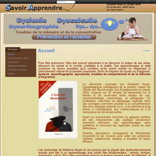 E.Nuyts - Memoire, Concentration, Dyslexie, Dyscalculie
