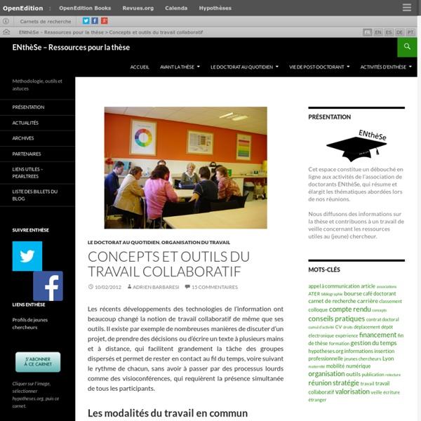 Concepts et outils du travail collaboratif