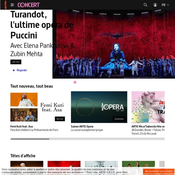 ARTE Concert - Plus de 600 concerts en accès libre