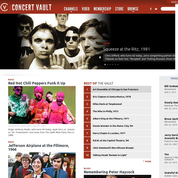 Free streaming live music, Live concert recordings, Live