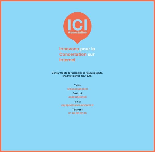 Association Innovons pour la Concertation sur Internet (ICI)