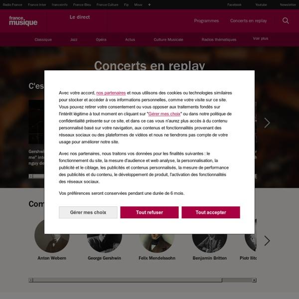 Concerts classiques, jazz : streaming audio et replay vidéo – France Musique