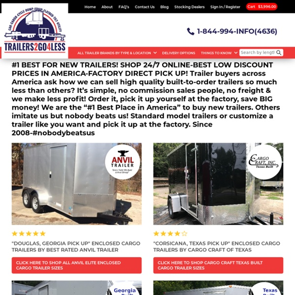 Best Low Prices-Cargo-Utility-Car-Concession Equipment Trailers For Sale