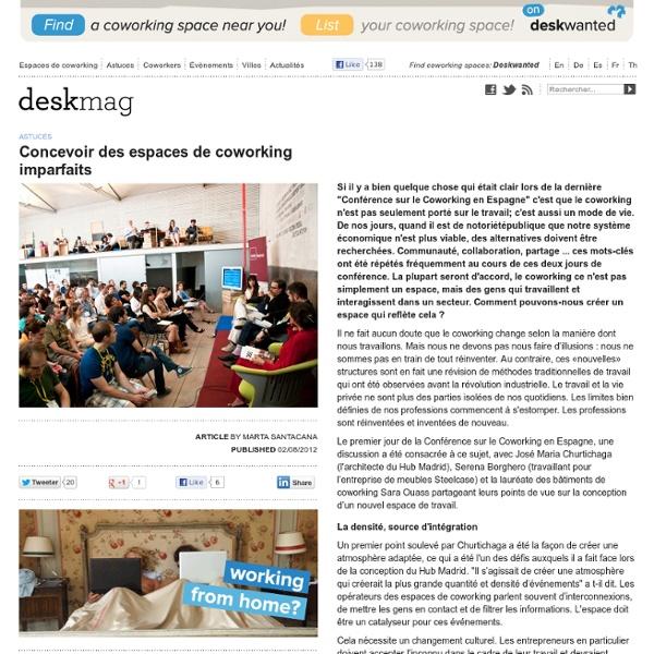 Concevoir des espaces de coworking imparfaits