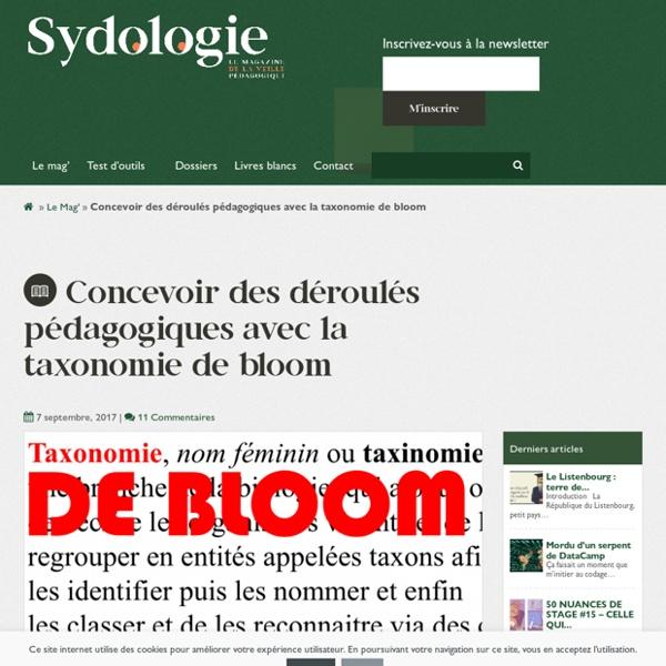 Concevoir des déroulés pédagogiques avec la taxonomie de bloom