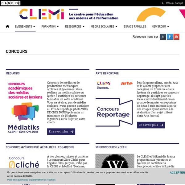 Concours de médias et de productions médiatiques scolaires et lycéennes.