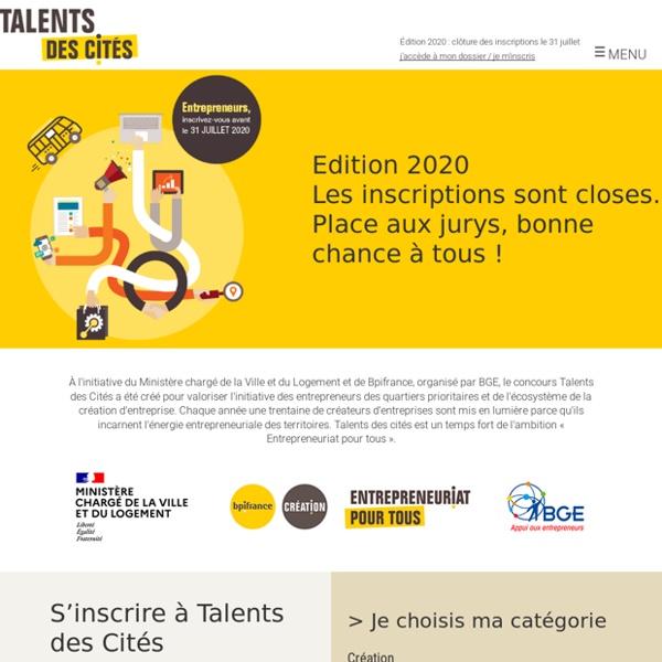 Concours Talents des Cités - La création d'entreprise dans les quartiers