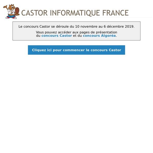Concours Castor Informatique Français