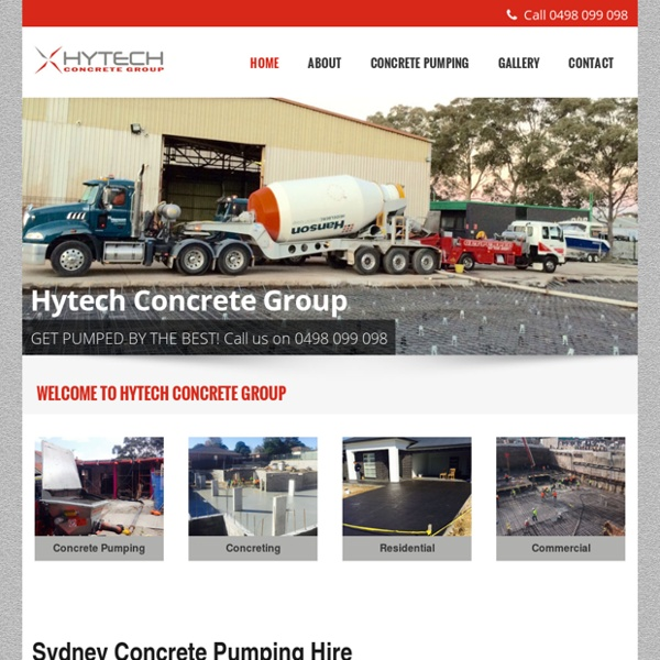 Concrete Pumping Sydney - Concrete Pump Hire - Sydney concreting