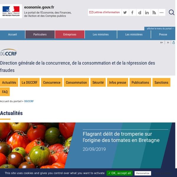DGCCRF - Fiches consommation: modes de conservation des aliments