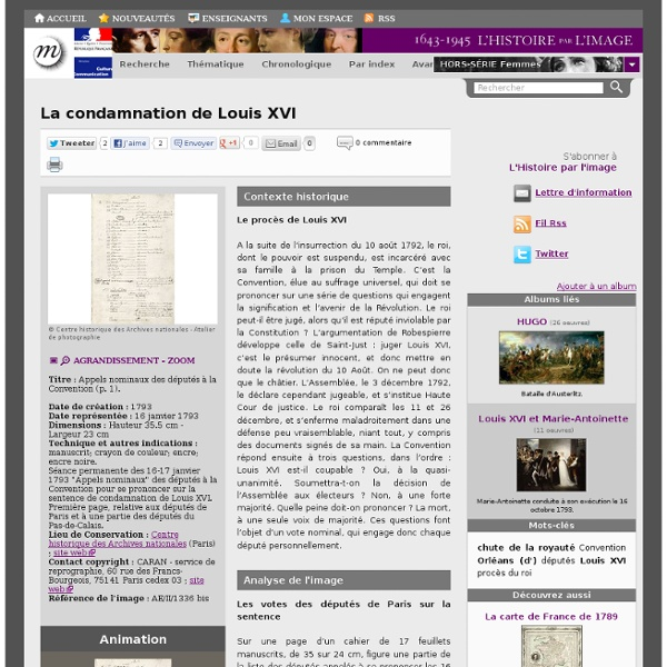 La condamnation de Louis XVI