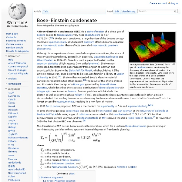 Bose–Einstein condensate