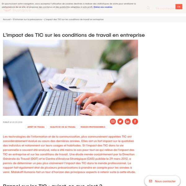 L'impact des TIC sur les conditions de travail en entreprise