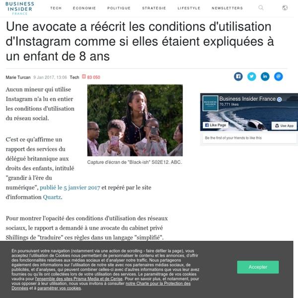Une avocate a réécrit les conditions d'utilisation d'Instagram comme si elles étaient expliquées à un enfant de 8 ans - Business Insider France