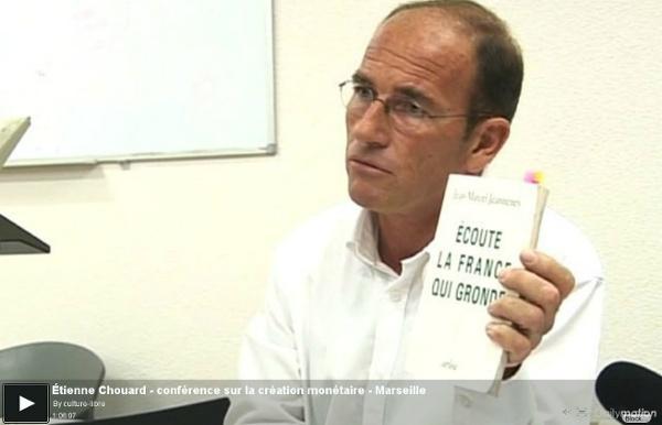 Tienne Chouard - conférence sur la création monétaire - Marseille - une vidéo Actu et Politique