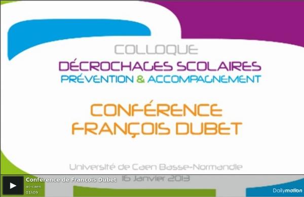 Conférence de François Dubet