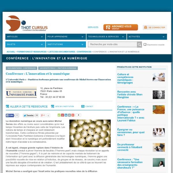 Conférence : L'innovation et le numérique