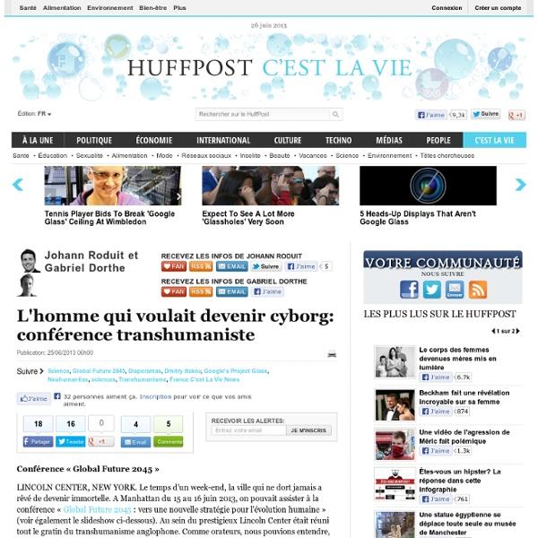 Johann Roduit: L'homme qui voulait devenir cyborg: conférence transhumaniste