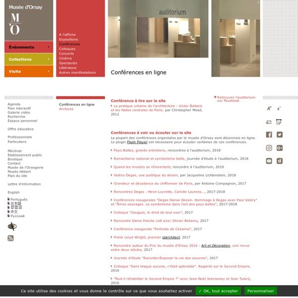 Musée d'Orsay : Conférences en ligne