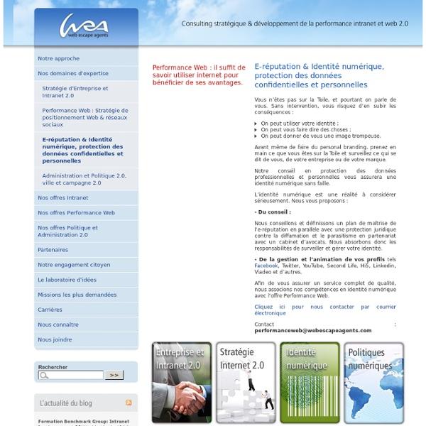 E-réputation & Identité numérique, protection des données confidentielles et personnelles - Web Escape Agents