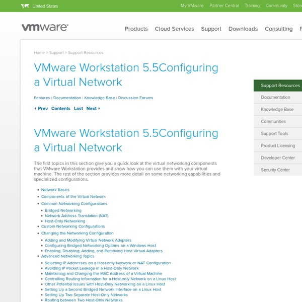 Configuring a Virtual Network