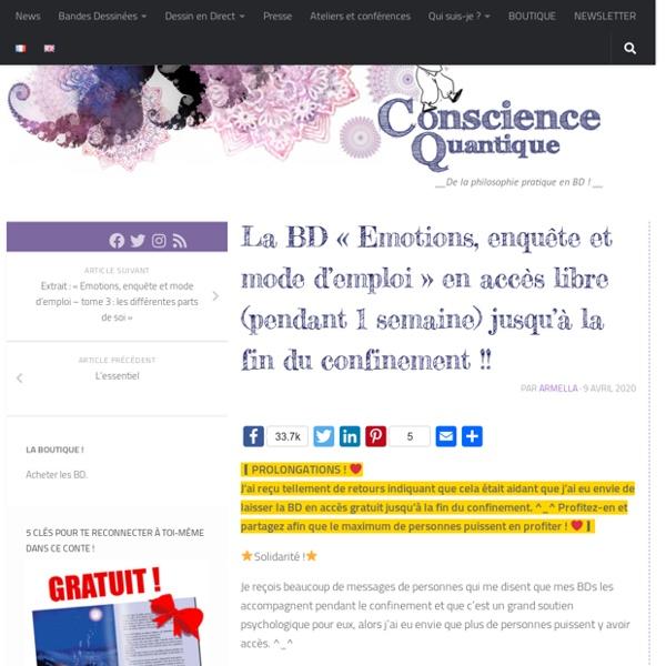 """La BD """"Emotions, enquête et mode d'emploi"""" en accès libre pendant 1 semaine !! - Conscience Quantique"""