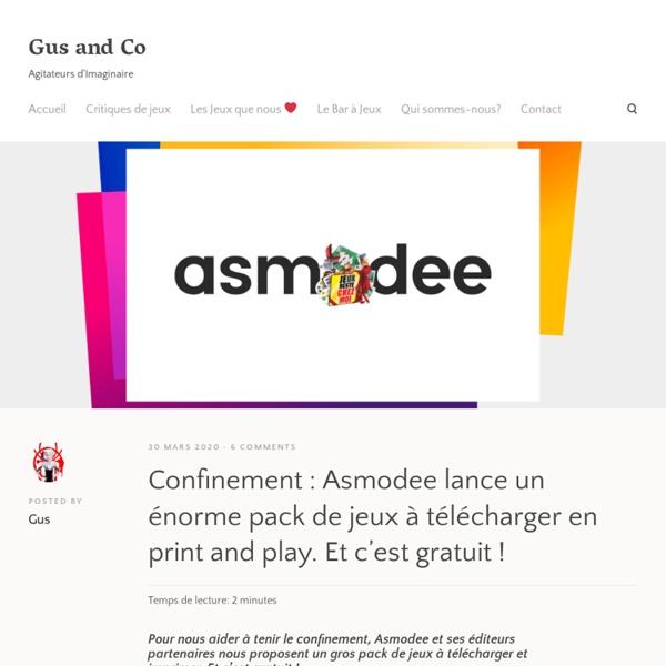 Confinement : Asmodee lance un énorme pack de jeux à télécharger en print and play. Et c'est gratuit !