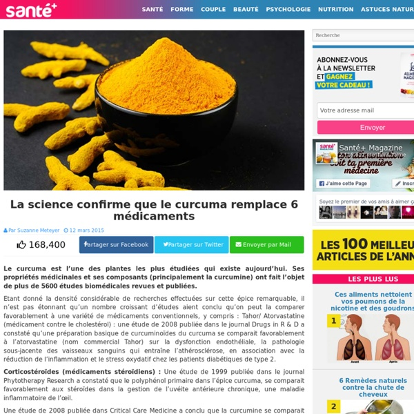 La science confirme que le curcuma remplace 6 médicaments