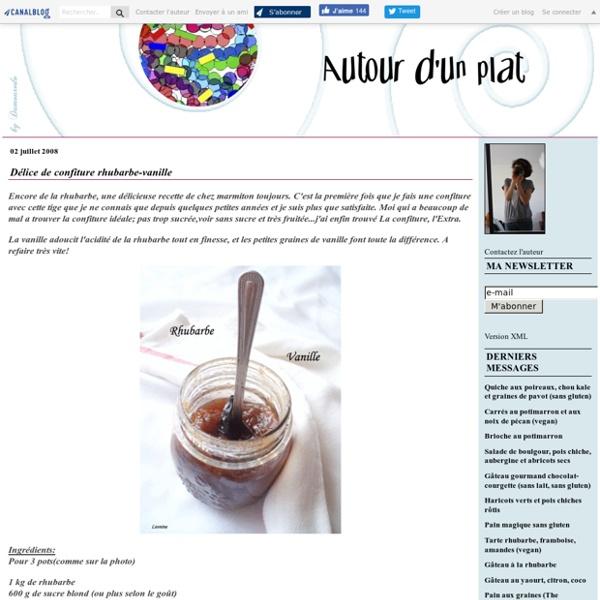 Délice de confiture rhubarbe-vanille