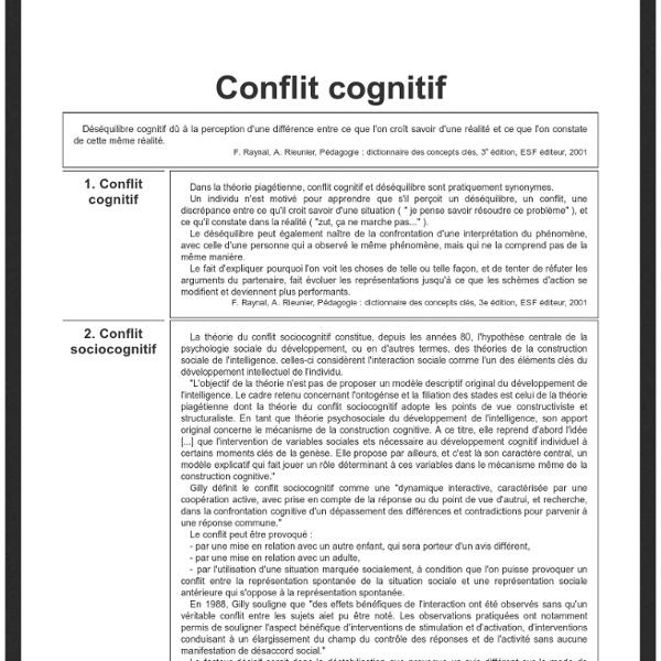 Conflit cognitif