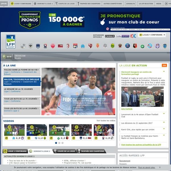 Ligue de Football Professionnel - Ligue 1, Ligue 2, Coupe de la Ligue, Trophée des Champions