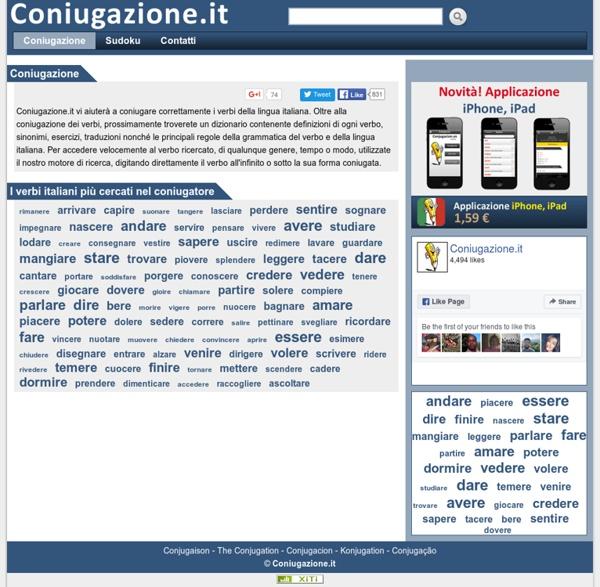 Coniugazione verbi italiani - Coniuga - Coniugatore