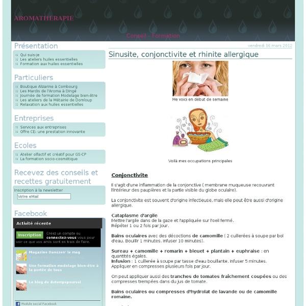 Sinusite, conjonctivite et rhinite allergique